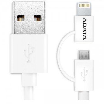Adata 2 In 1 Sync And Charge Lightning Cable 100cm