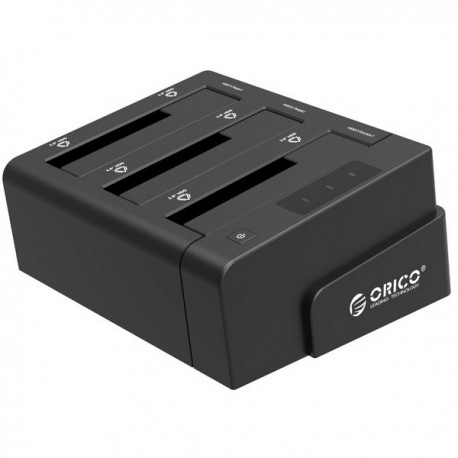 ORICO 6638US3-C 2.5 & 3.5 inch SATA2.0 USB3.0 1 to 2 Clone External Hard Drive Dock - Black