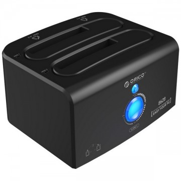 ORICO 8628SUS3-C 2.5 & 3.5 inch USB3.0 & eSATA with 1 to 1 Clone External Hard Drive Dock - Black