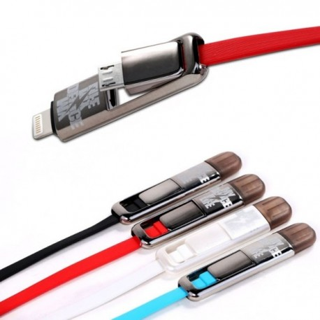 Remax USB to microUSB and Lighting Transformers King Kong Cable