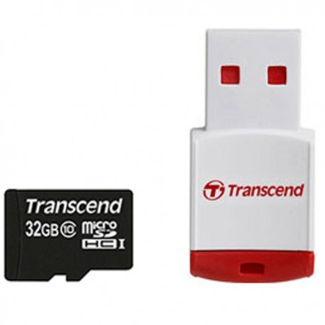 Transcend microSDHC With P3 Card Reader