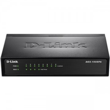 D-Link DES-1008PA 8-port Switch