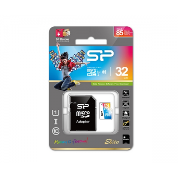 Silicon Power Elite microSDHC UHS-I U1 Colorful With Adaptor