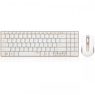 Rapoo 9160 Golden Wireless Keyboard and Mouse