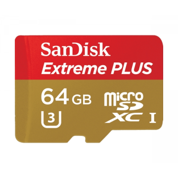 SanDisk Extreme PLUS microSDXC UHS-I Memory Card for Action Cameras