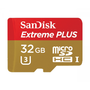 SanDisk Extreme PLUS microSDHC UHS-I Memory Card for Action Cameras