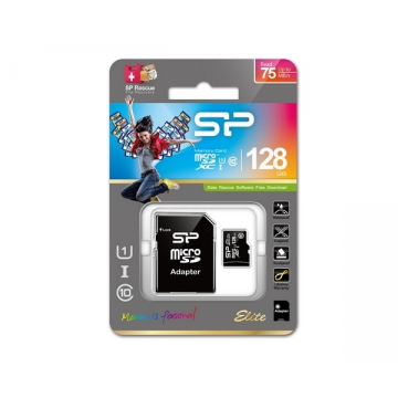 Silicon Power Elite microSDXC UHS-I U1 Black With Adaptor