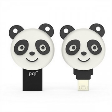 Pqi Connect 304  Energetic Panda USB 3.0 and OTG Flash Memory