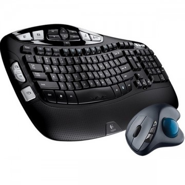 Logitech Wireless Keyboard K350 & Wireless Trackball M570 Bundle